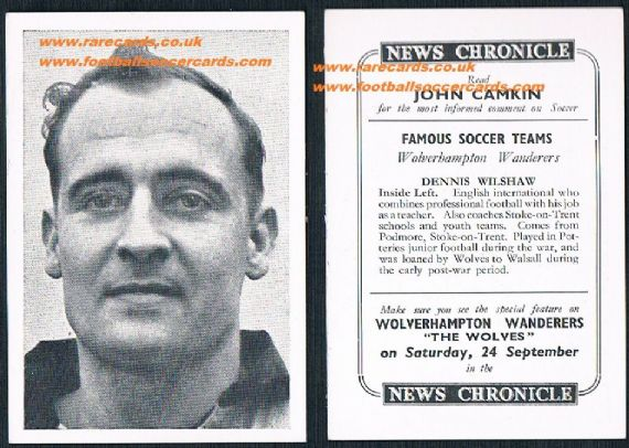 1955 Wolves News Chronicle Wilshaw